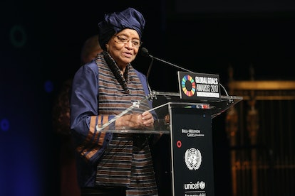 Ellen Johnson Sirleaf was the first black woman president elected in an African country.