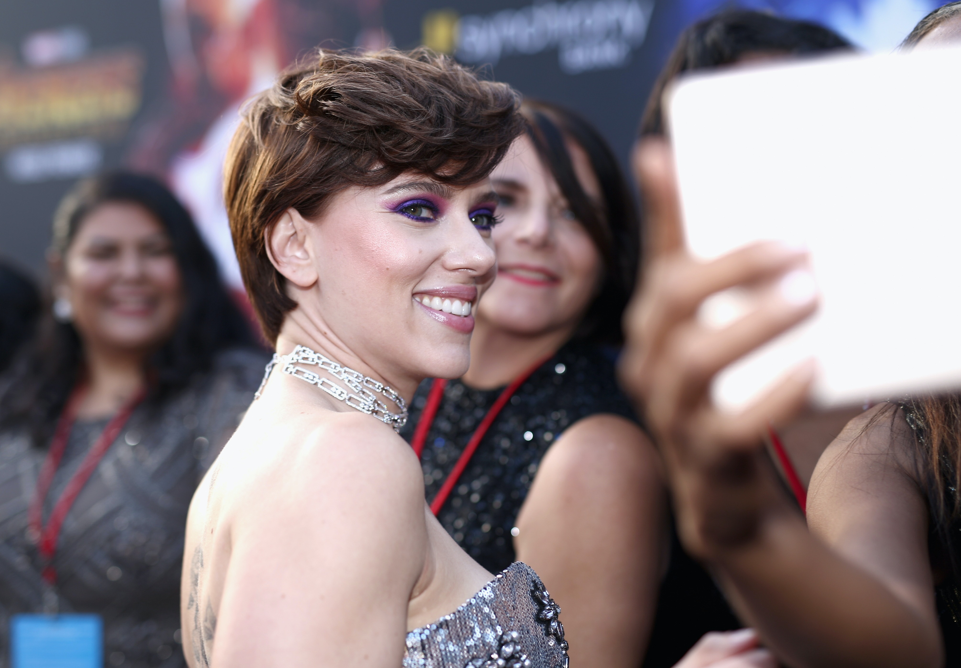 Is Scarlett Johansson S Brunette Pixie Cut Real The Look Is So Different But So Good