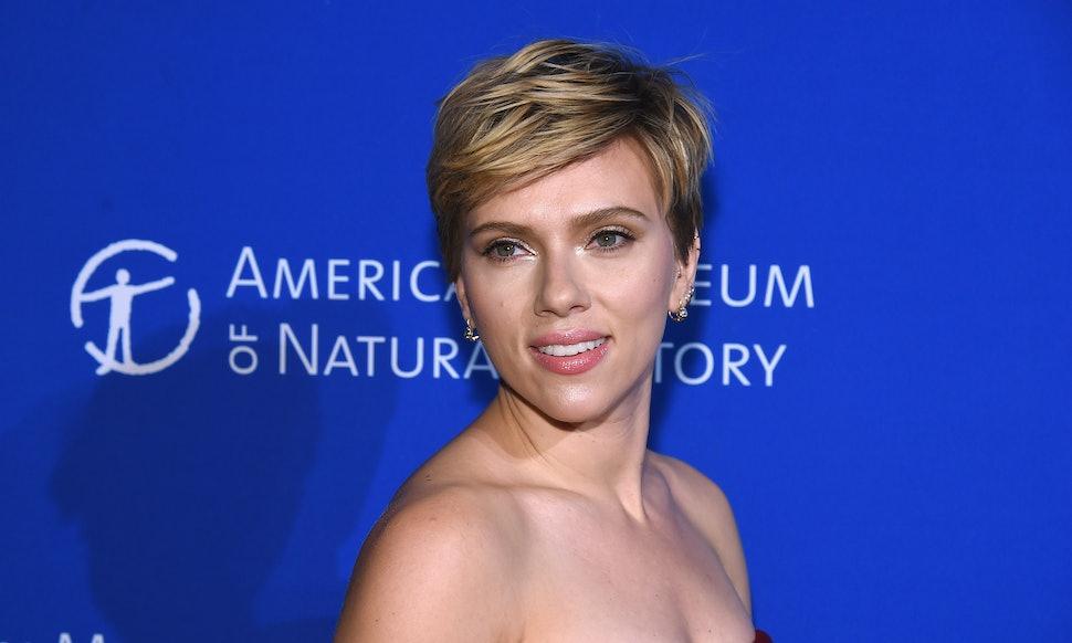 Is Scarlett Johanssons Brunette Pixie Cut Real The Look Is So