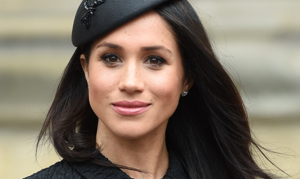 Meghan Markle poses for the shutterbugs