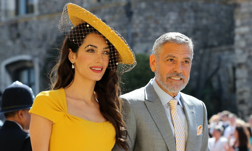 Amal Clooneys Dress At The 2018 Royal Wedding Was A Vision In