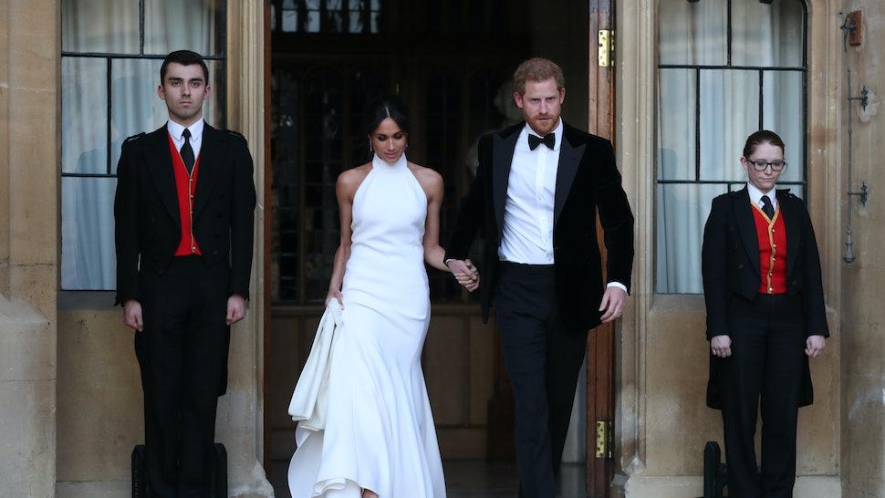 b2f80eba7cf Boohoo s Dupe of Meghan Markle s Wedding Reception Dress Is Here   It s An  Absolute Bargain