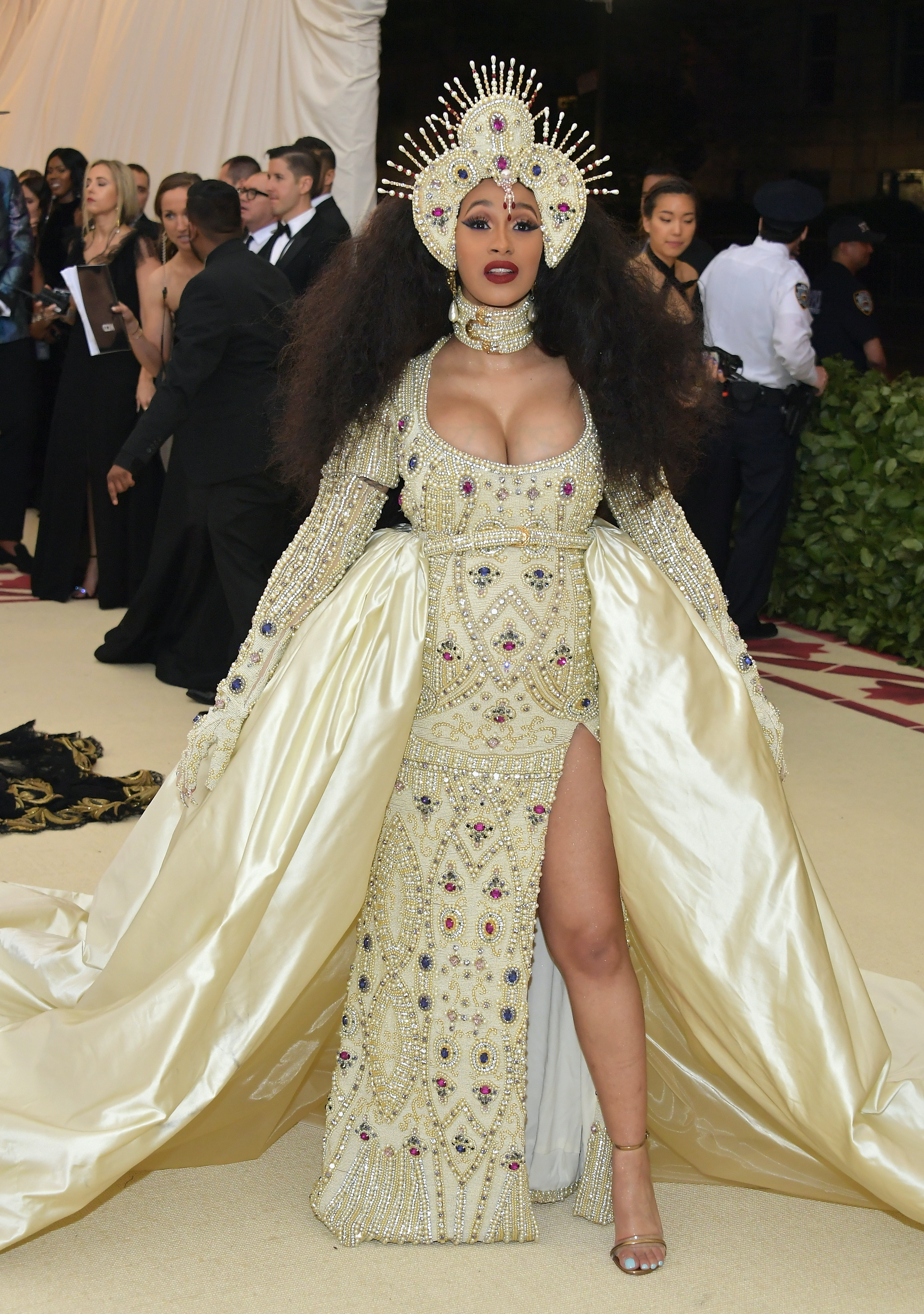 0d7e1acfcac Cardi B s 2018 Met Gala Look Is A Stunning Homage To Beyonce At The 2017  Grammys