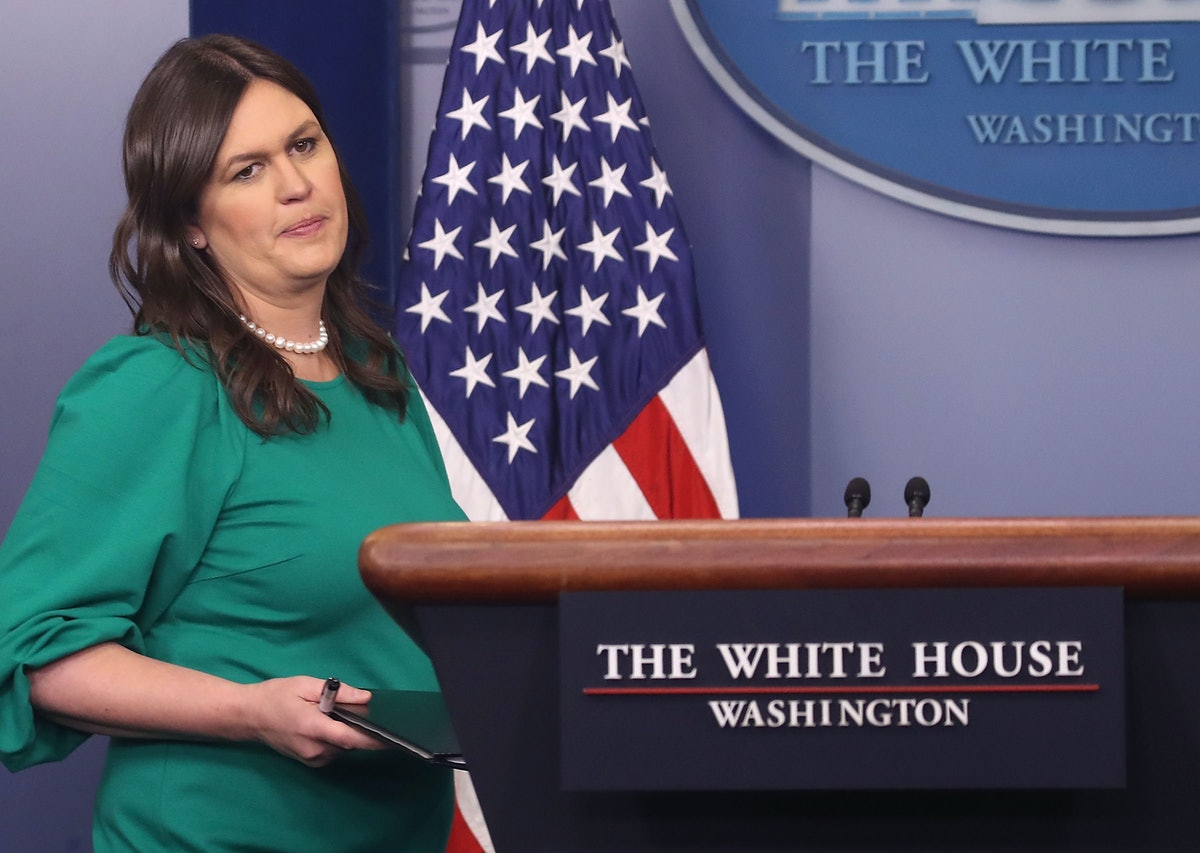 Sarah Huckabee Sanders Is Reportedly Leaving The White House Sooner Than You Thought