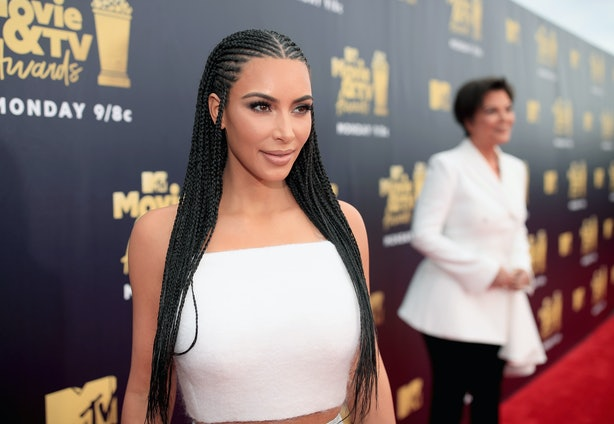 Kim Kardashian Wore This Very Divisive Hair Style Again At The Mtv