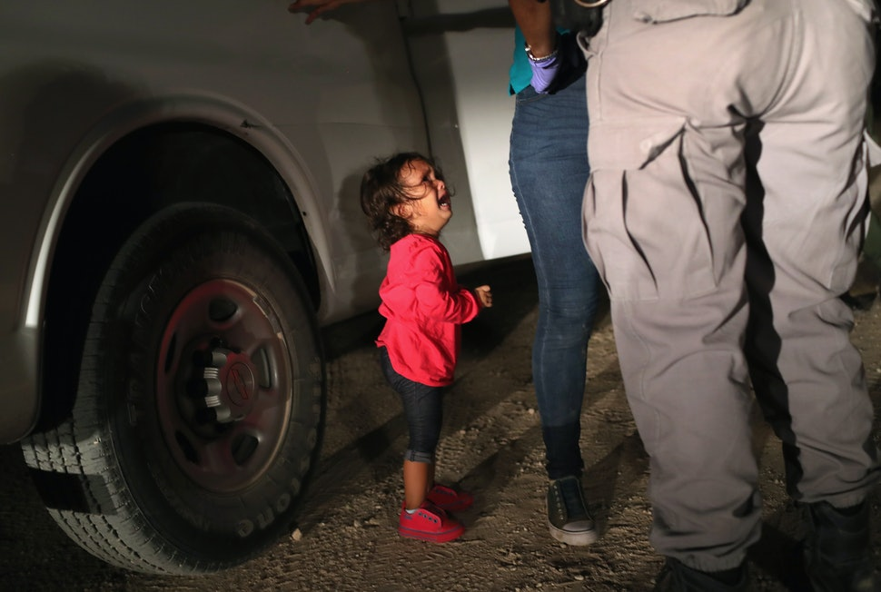 Image result for trump immigrant children crying
