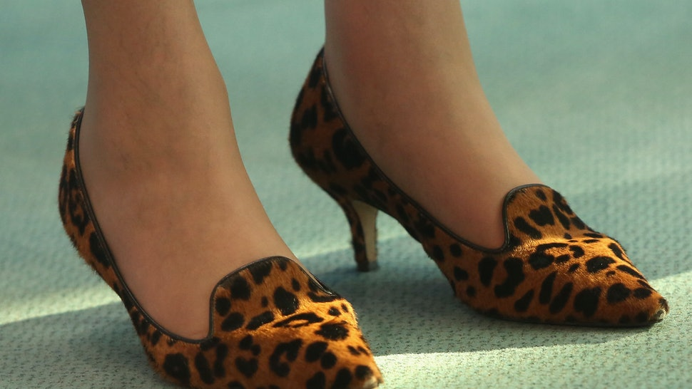 b2dba5b75931 Theresa May s Leopard Print Shoes Made Yet Another Appearance This Weekend    This Might Be Why