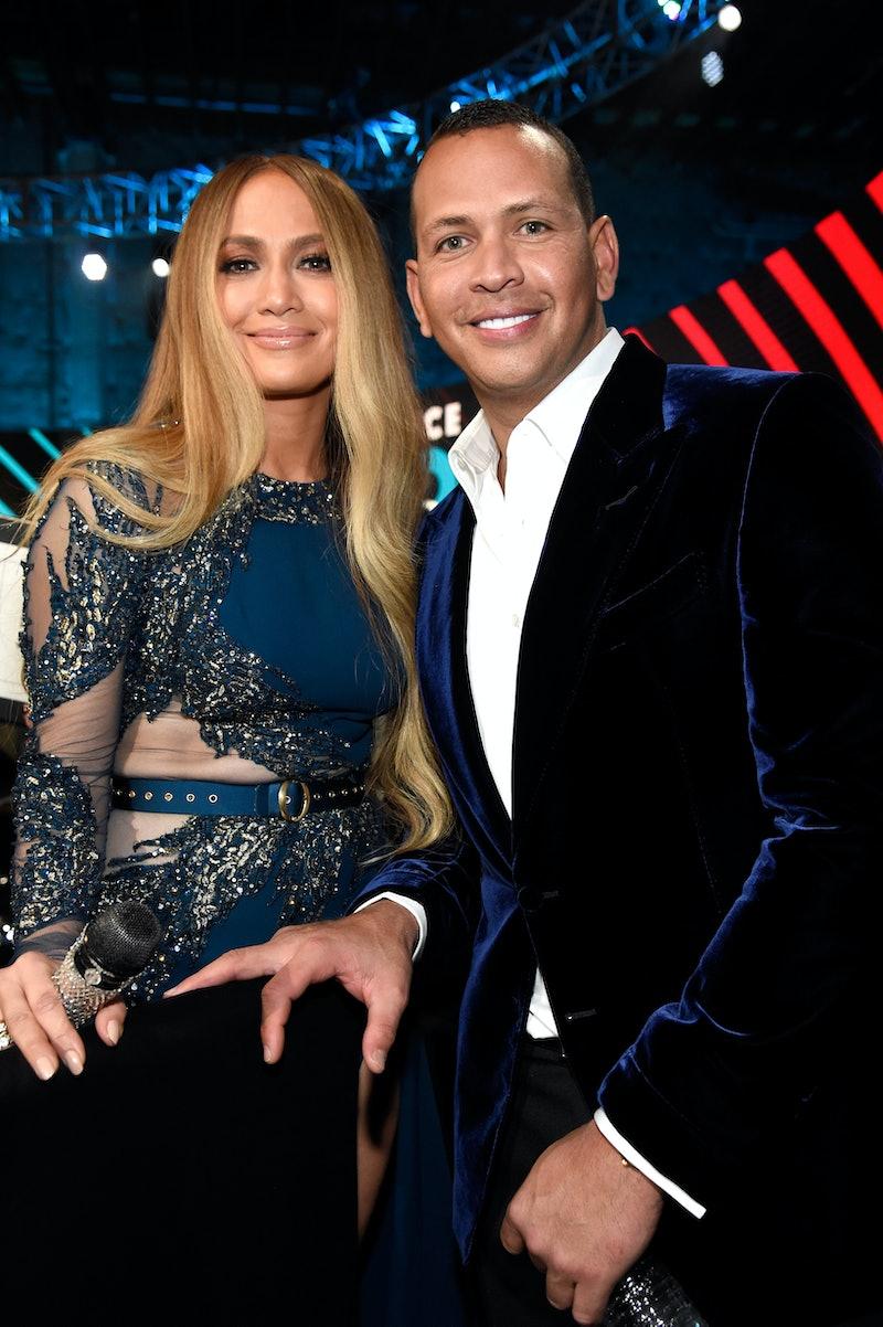 Jennifer Lopez and Alex Rodriguez. Photo via Getty Images