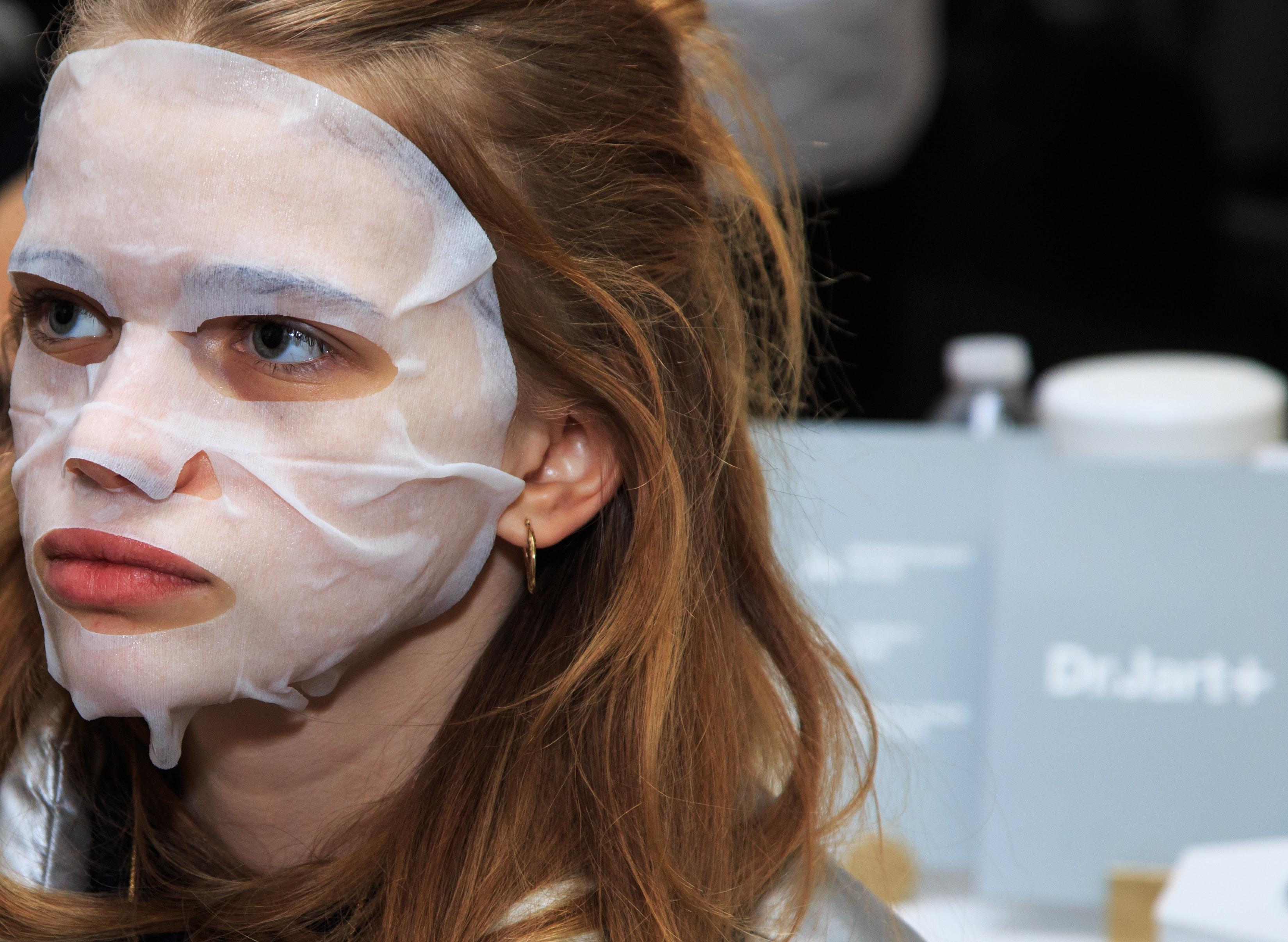 Facial redness irritation