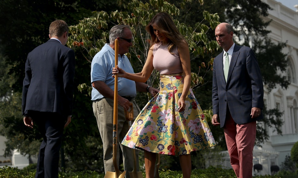 Why Melania Trump Planted An Eisenhower Oak Connects Back To A Fun