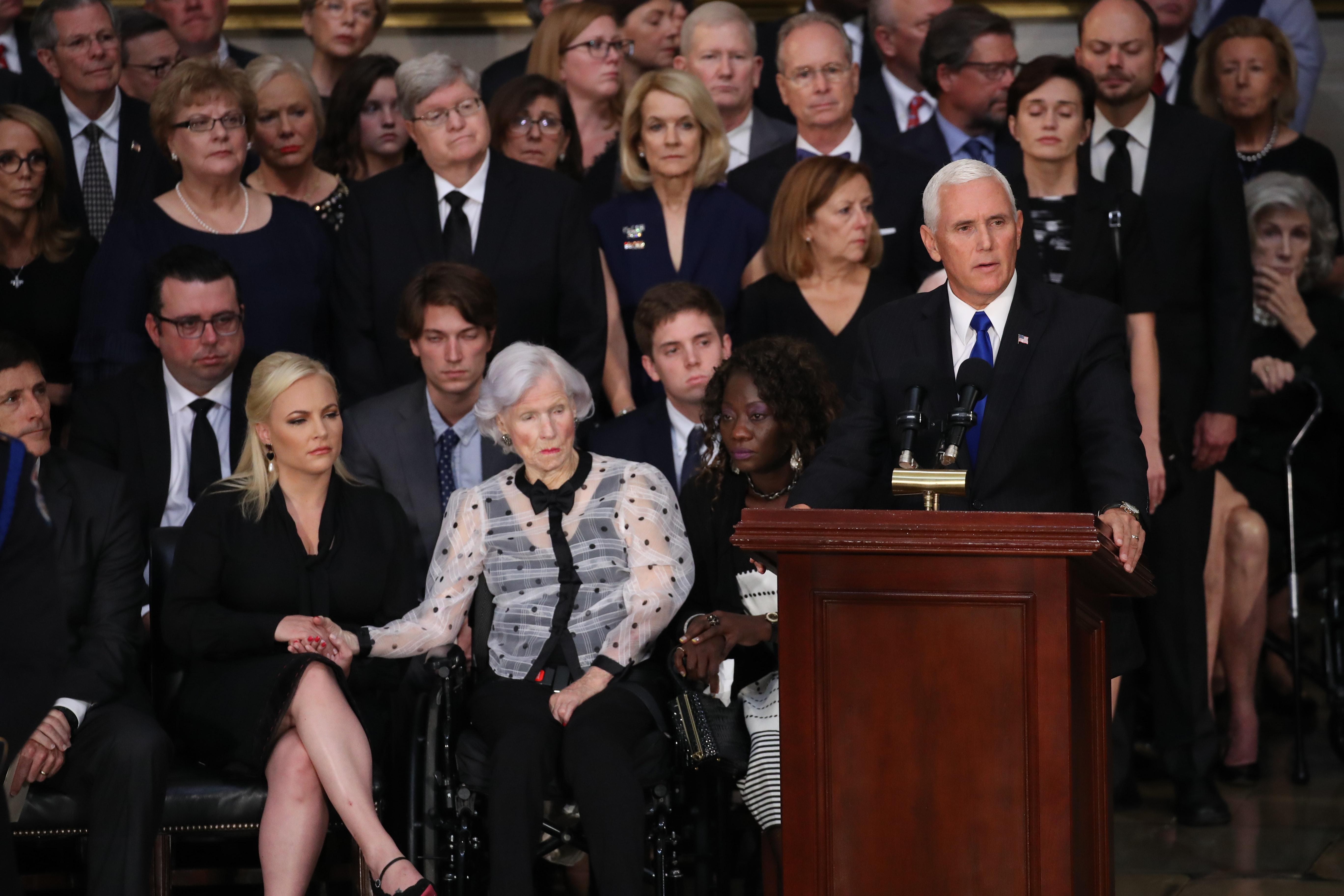 Speech during funeral