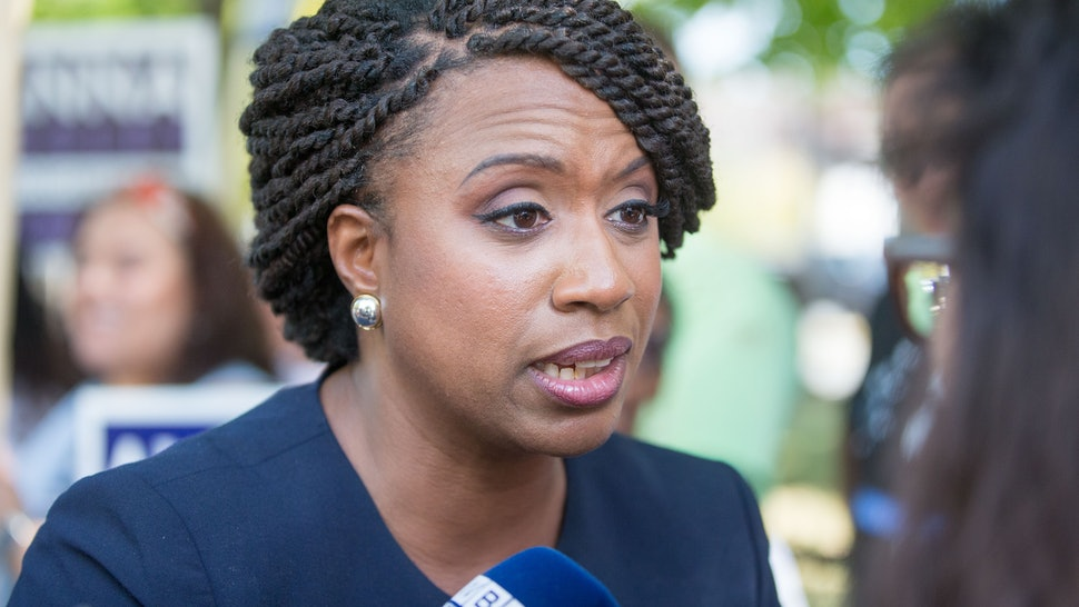 huge selection of 70baf e7eff Massachusetts  Ayanna Pressley Is Set To Likely Become The State s First  Black Congresswoman