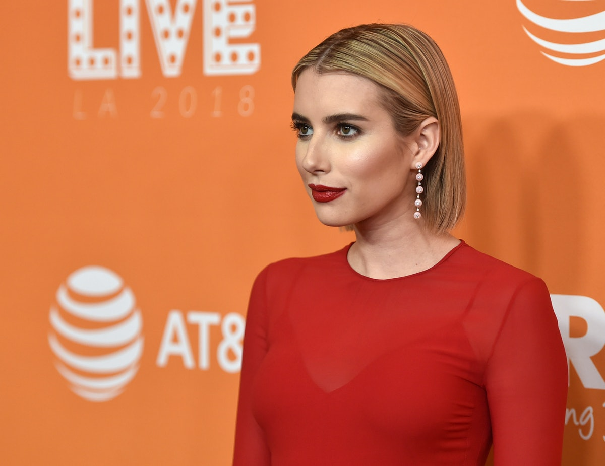 Emma Roberts' Maroon Shirt Matched Her Accessories — Here's How She Pulled It Off