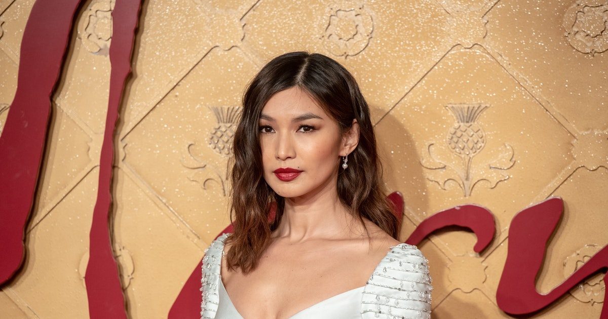 Gemma Chan's Purple Skirt Is The $125 Spring Staple You Need Right Now