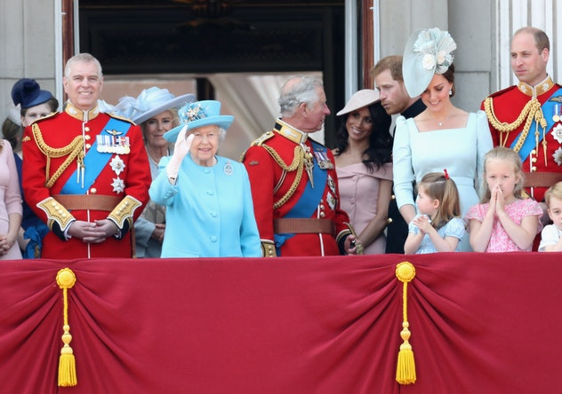 Princess Charlotte Copying Queen Elizabeth's Wave At Trooping The Colours