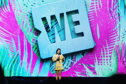 Ariel Winter giving a speech at WE DAY Washington at the Tacoma Dome on April 18, 2019