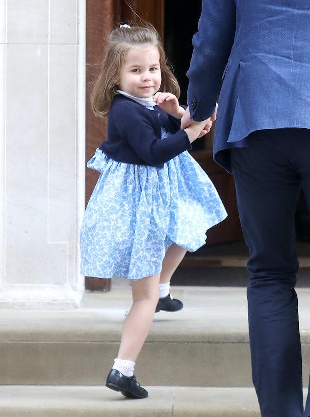 Princess Charlotte Waving At St. Mary's Hospital
