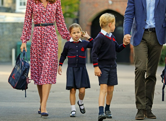 Princess Charlotte With Her Mother, Brother, & Father At Thomas's Battersea