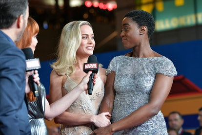 Brie Larson, here at the Los Angeles premiere of 'Captain Marvel' with costar Lashana Lynch, is continuing to campaign for an all-female MCU movie