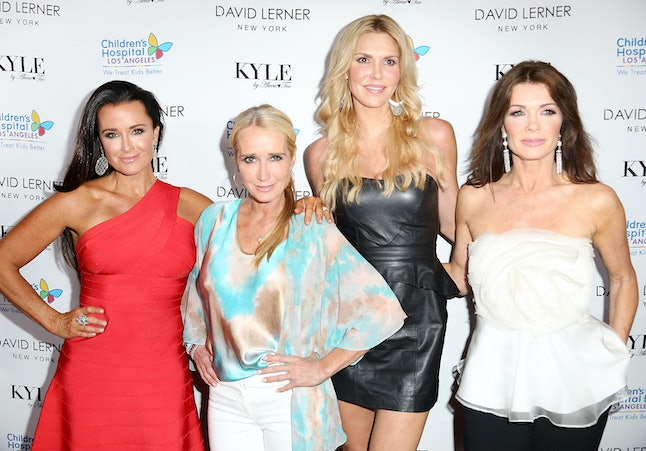 Brandi Glanville, here with Kyle Richards, Kim Richards, and Lisa Vanderpump, shared her opinion of new RHOBH cast members Sutton Stracke and Garcelle Beauvais