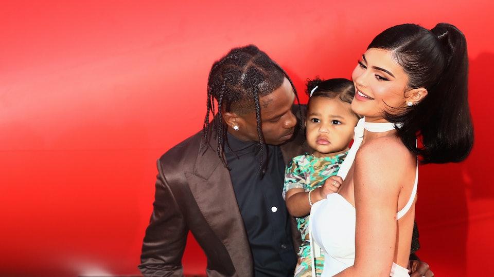 Kylie Jenner with daughter Stormi & ex-boyfriend Travis Scott