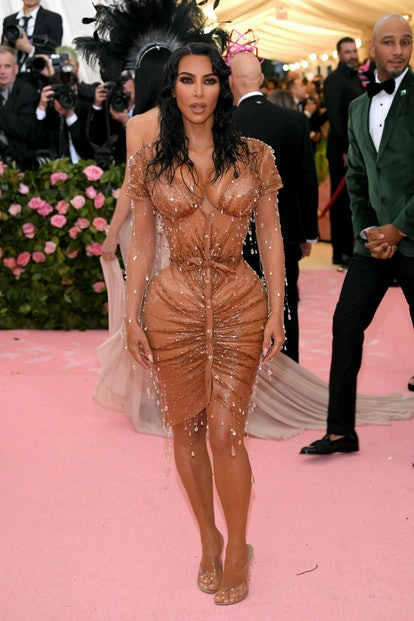 Kim Kardashian wore a custom Manfred Thierry Mugler dress inspired by her daughter North to the 2019 Met Gala.