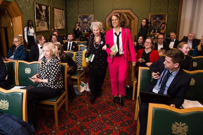 Bernardine Evaristo and Margaret Atwood at the Booker Prize literary awards