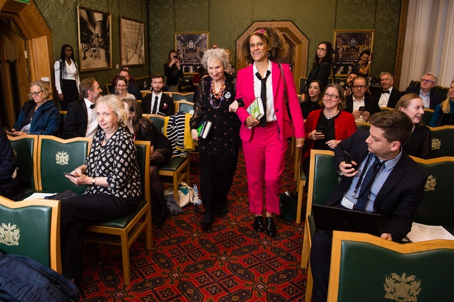 Bernardine Evaristo and Margaret Atwood at the Booker Prize literary awards