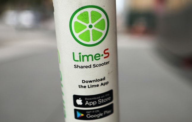 To use a Lime electric scooter, first download the app from the app store.