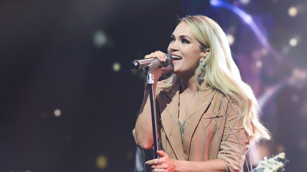Carrie Underwood performing
