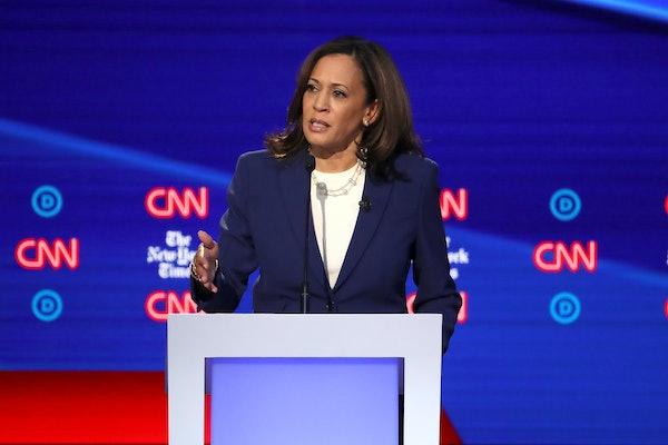Kamala Harris at the Democratic debate talks reproductive rights and abortion