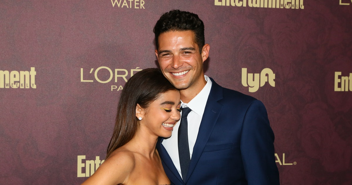 Wells Adams & Sarah Hyland's Anniversary Instagrams Are So Adorable