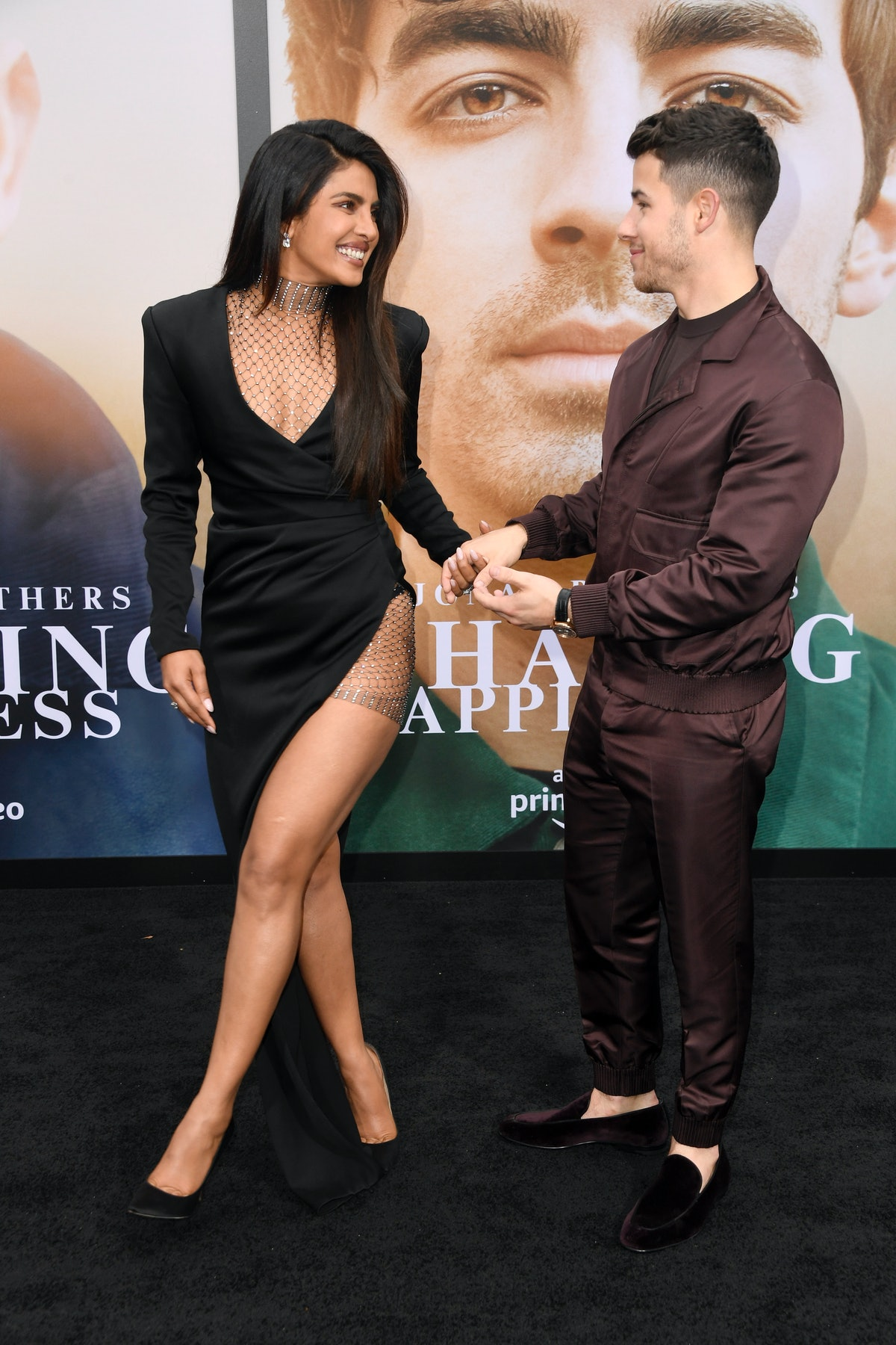 Nick Jonas & Priyanka Chopra at the 'Chasing Happiness' premiere