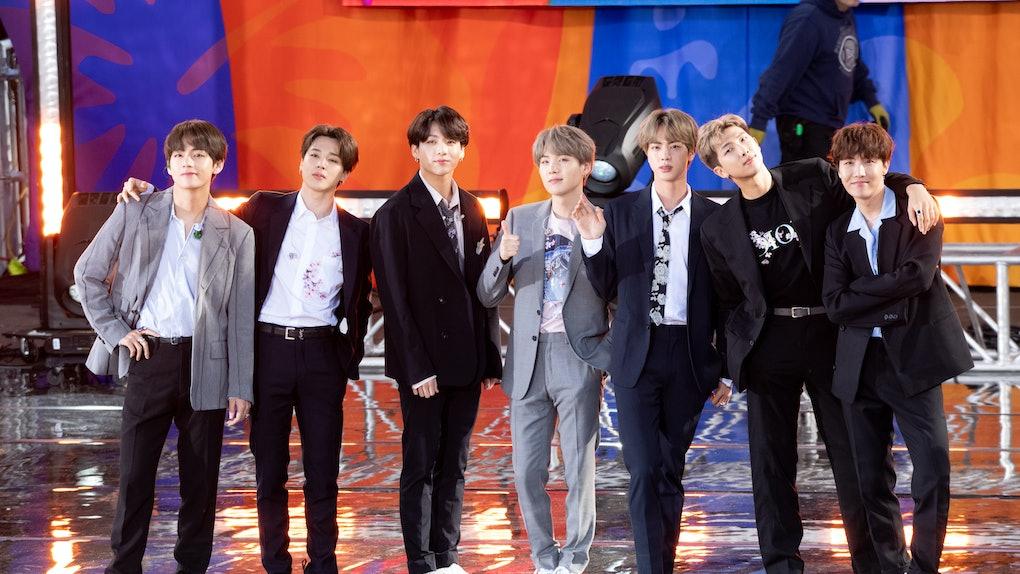 K-Pop group BTS on Good Morning America