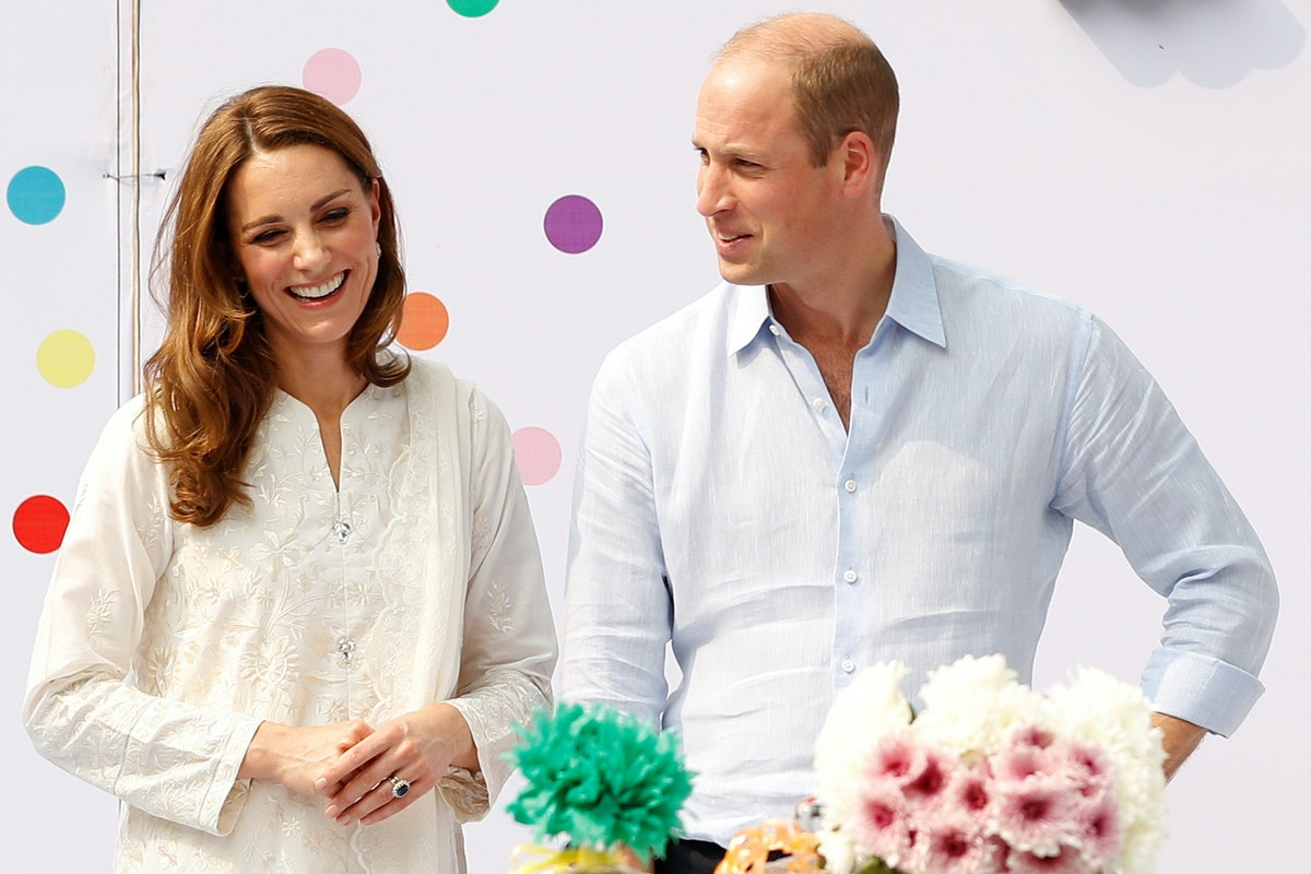 Kate Middleton and Prince William attend a children's birthday party in Pakistan.