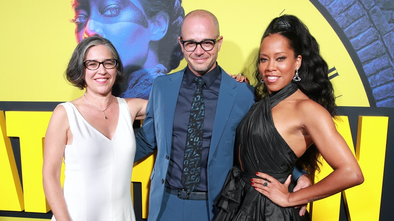 'Watchmen' Director Nicole Kassell with creator Damon Lindelof and star Regina King