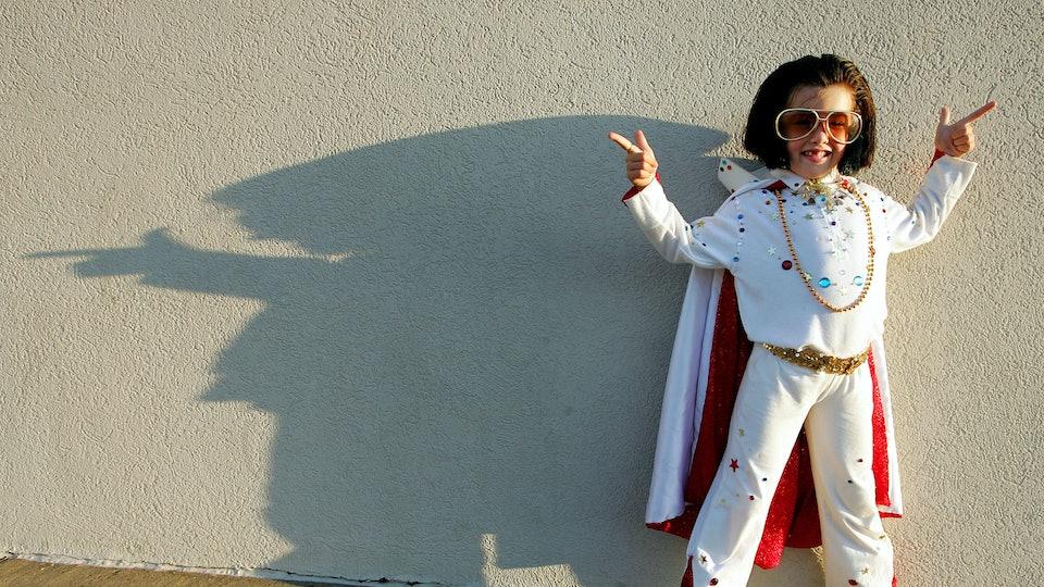 Child dressed as Elvis