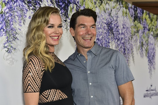 Rebecca Romijn stands with husband Jerry O'Connell, who recently proved he takes his kids' music education seriously.