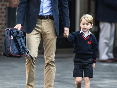 Prince George loves his family's country estate, especially the tractors