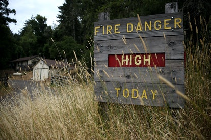 Read fire danger ratings in wildfire prone areas.