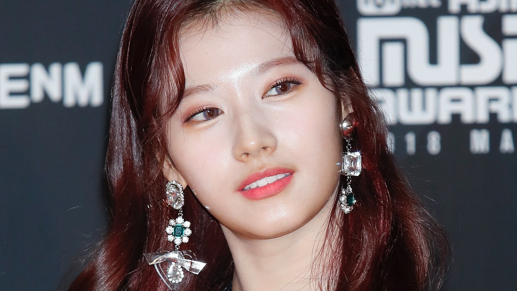 Sana attends the Asian Music Awards.