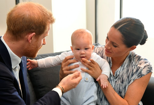 Prince Harry with his son Archie & wife Meghan Markle in Cape Town, South Africa