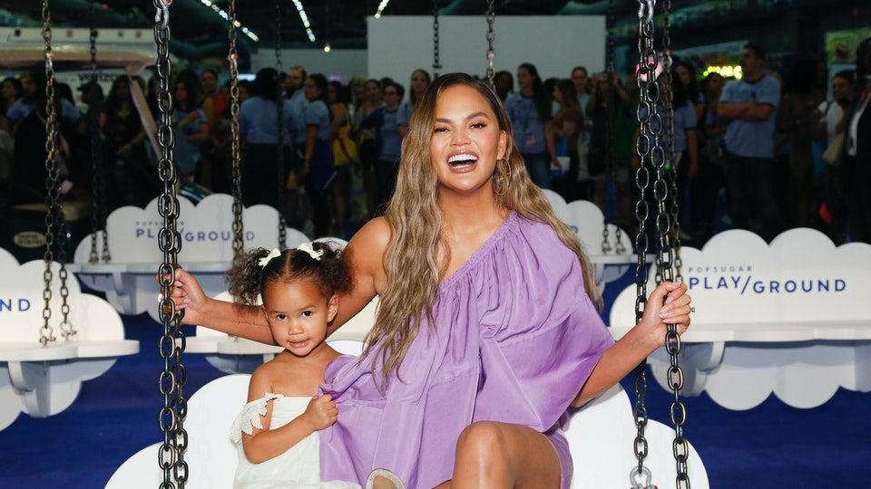 Chrissy Teigen's 3-year-old daughter, Luna, dressed up as Wonder Woman for fun on Tuesday night.