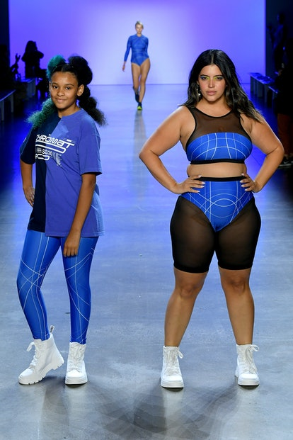 Models at the Chromat Fashion Show, one of NYFW's only truly diverse presentations.