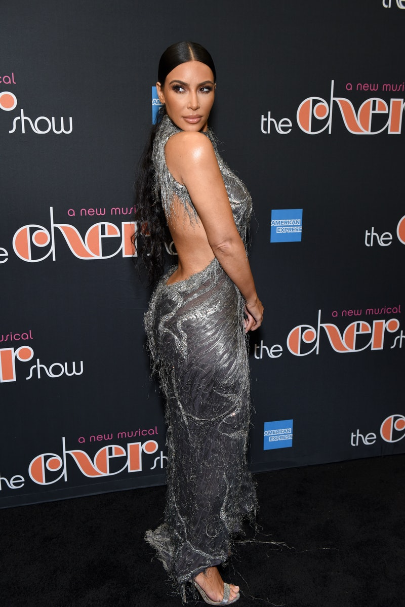 Kim Kardashian's cool brown hair is back again, and this time it's not a wig.