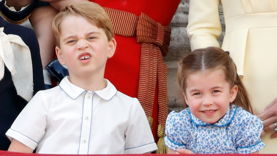 Royal kids, Prince George and Princess Charlotte, are all dressed up for a public event.