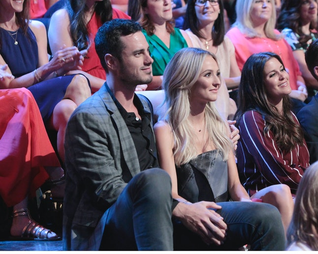 Lauren Bushnell and Ben Higgins at the taping of 'The Bachelorette: After the Final Rose'