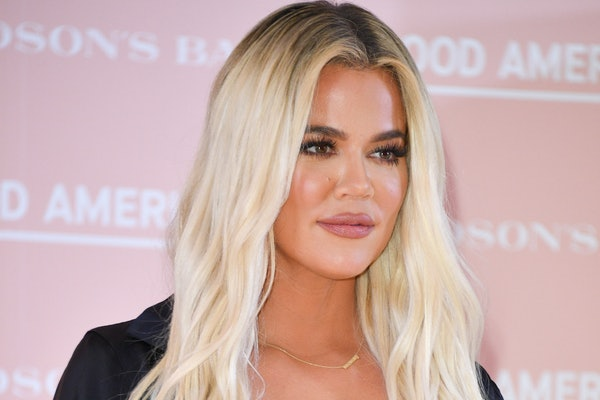 Khloe Kardashian steps out in support of her Good American fashion line.