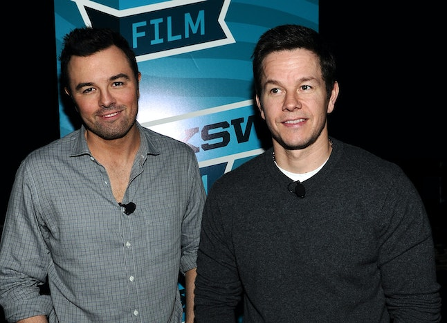 Mark Wahlberg and Seth MacFarlane from Ted 2