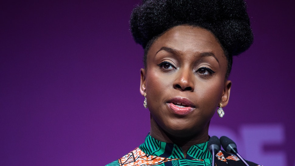 In an interview for 'Women: The National Geographic Image Collection,' Chimamanda Ngozi Adichie — pictured here at the Malaria Summit in London in 2018 — gives advice to young women everywhere.